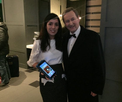 Lisa Marie with An Taoiseach
